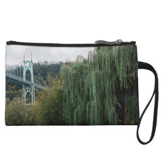 St. John's Bridge from Cathedral Park Wristlet Purses
