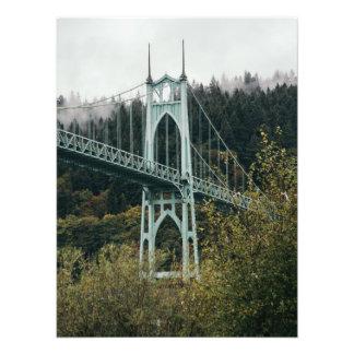 St. John's Bridge in Portland Art Photo