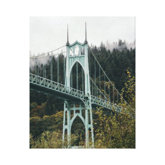 St. John's Bridge in Portland Canvas Print