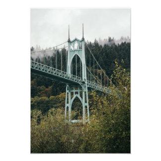 St. John's Bridge in Portland Photograph