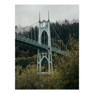 St. John's Bridge in Portland Poster