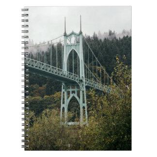 St. John's Bridge in Portland Spiral Notebook
