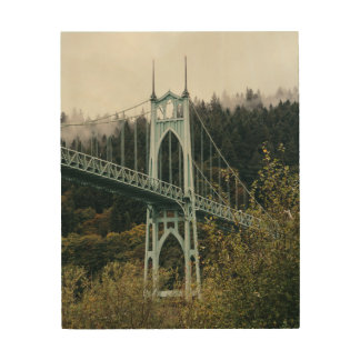 St. John's Bridge in Portland Wood Print