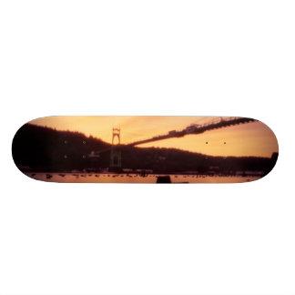 St Johns Bridge Sunset Custom Skateboard