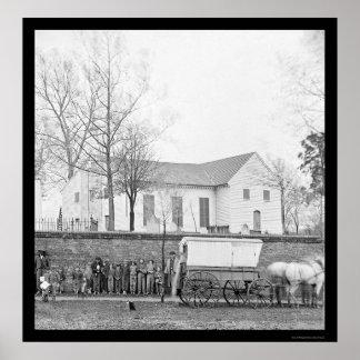 St. John's Church in Richmond, VA 1865 Poster