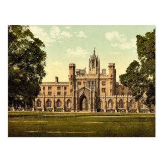 St. John's College, Cambridge, England classic Pho Postcard