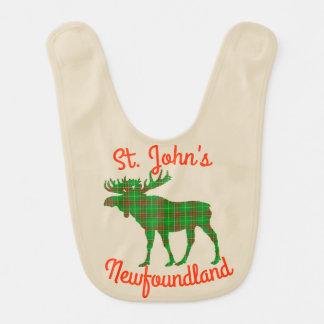 St. John's Newfoundland bib moose tartan