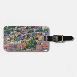 St John's Newfoundland Canada Colorful Painting Luggage Tag