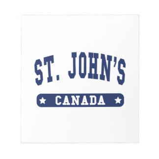 St. John's Notepad