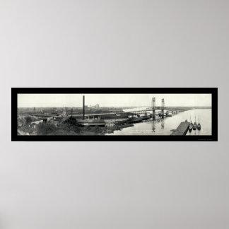 St. Johns River Bridge Photo 1921 Poster