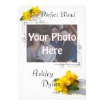 St. John's Wort Blended Family Photo Wedding Custom Announcements