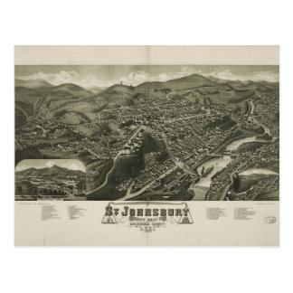St. Johnsbury Vermont 1884 Postcard