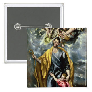 St Joseph and the Christ Child 1597-99 Pinback Buttons