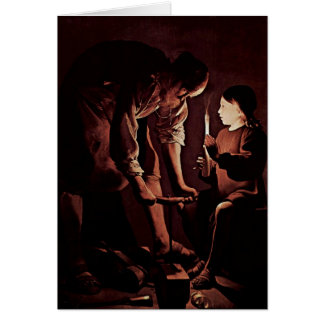 St. Joseph As A Carpenter By Georges De La Tour Greeting Card