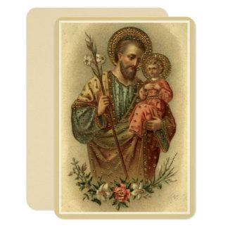 St. Joseph Baby Jesus  Lily Card