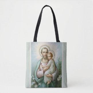 St. Joseph Baby Jesus Tote Bag