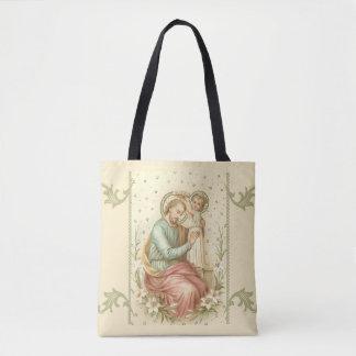 St. Joseph & Baby Jesus Tote Bag