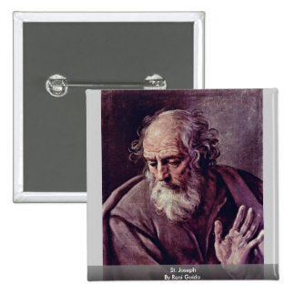 St Joseph By Reni Guido Pinback Button