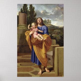 St. Joseph Carrying the Infant Jesus, 1665 Print