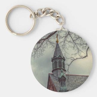 St Joseph Chapel Basic Round Button Key Ring