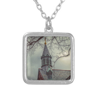 St Joseph Chapel Silver Plated Necklace