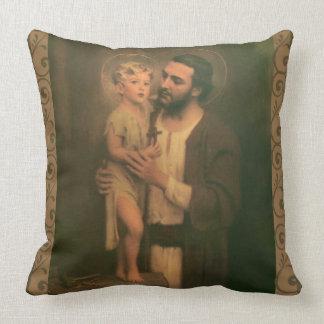 St. Joseph & Child Jesus C. Bosseron Chambers Throw Pillow