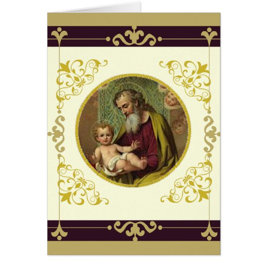 St. Joseph & Child Jesus FATHER'S DAY Card