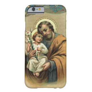 St. Joseph & Child Jesus Lily Flower Barely There iPhone 6 Case