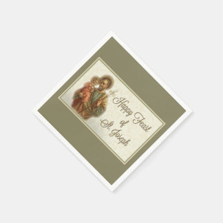 St. Joseph Day Feast Napkins Disposable Napkin