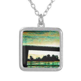 St Joseph Island Bridge Silver Plated Necklace