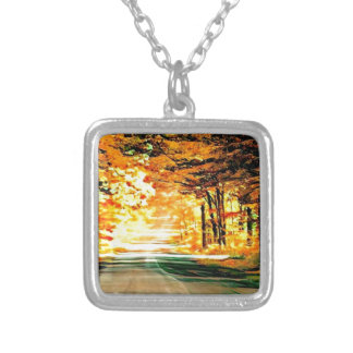 St Joseph Island Country Road Silver Plated Necklace