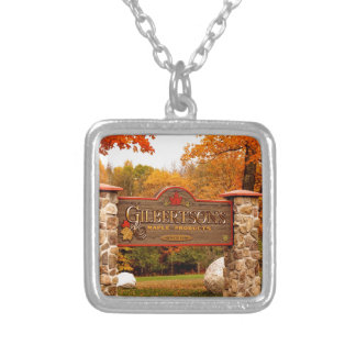 St Joseph Island destination location Silver Plated Necklace