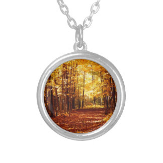 St Joseph Island Fall Colours Silver Plated Necklace