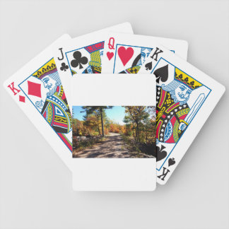 St Joseph Island Fall Path Bicycle Playing Cards