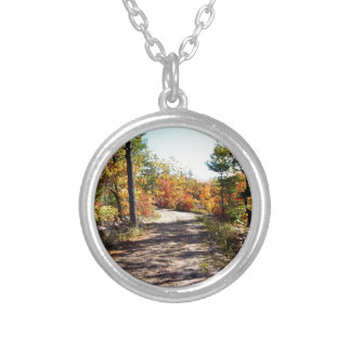 St Joseph Island Fall Path Silver Plated Necklace