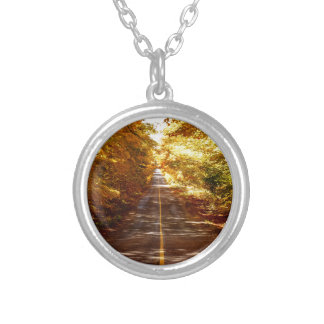 St Joseph Island Fall Tour Silver Plated Necklace