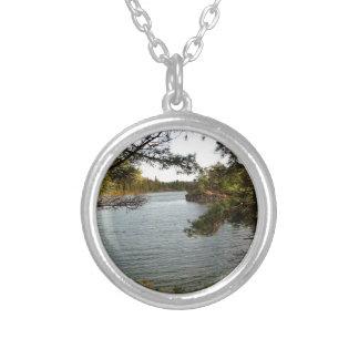 St Joseph Island fishing Spot Silver Plated Necklace