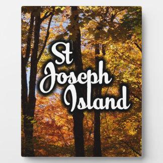 St Joseph Island Maple trees Plaque