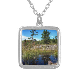 St Joseph Island northern Ontario Silver Plated Necklace