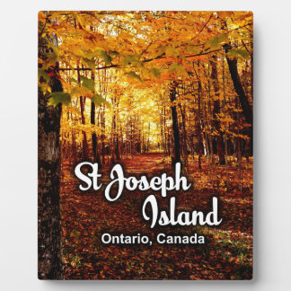 St Joseph Island, Ontario Canada Fall Plaque