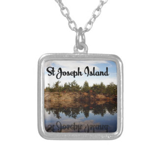 St Joseph Island reflections Silver Plated Necklace