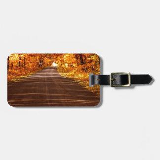 St Joseph Island roadway in full Fall colour Bag Tag