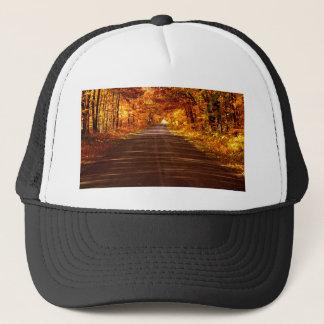 St Joseph Island roadway in full Fall colour Cap