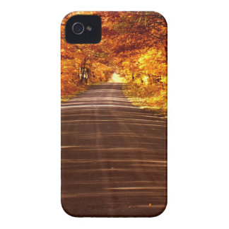 St Joseph Island roadway in full Fall colour iPhone 4 Case