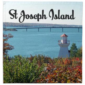 St Joseph Island view Napkin