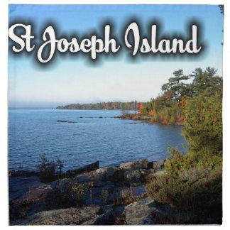 St Joseph Island views Napkin