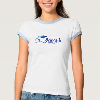 St. Joseph, MI Ladies Ringer T-Shirt