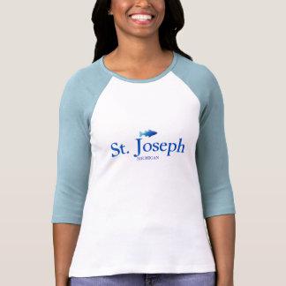 St. Joseph, Michigan - Ladies 3/4 Sleeve Raglan Tee Shirts