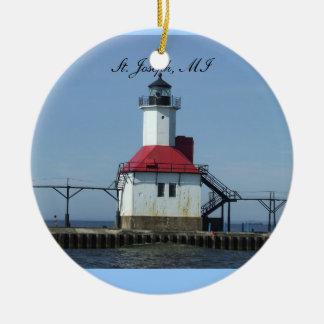 St. Joseph Michigan Lightihouse Ornament