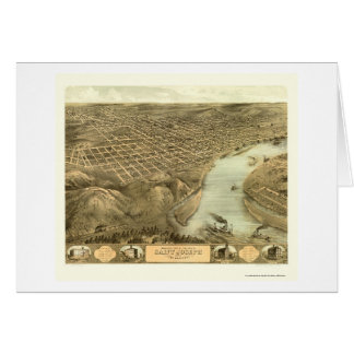 St. Joseph, MO Panoramic Map - 1868 Card